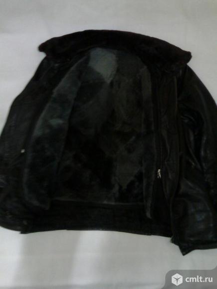 Куртка коженная на натуральном меху р.50. Фото 3.