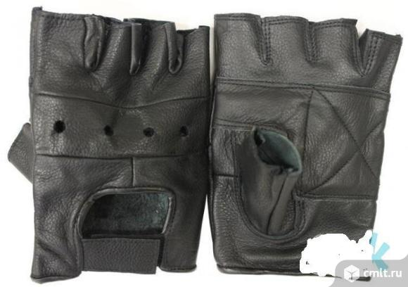 "Перчатки""без пальцев"",нат.кожа."
