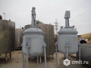 Реактора нержавеющие, объем — 0,63 куб.м., с рубашкой и мешалкой