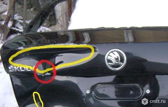 Крышка(дверь) багажника Skoda rapid. Фото 8.