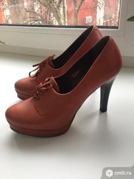 Продам шикарные кожаные туфли. Фото 1.