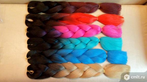 Продам цветные косы. Фото 1.