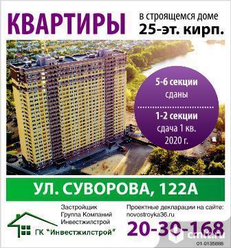 Суворова ул. Двухкомнатная квартира, 70.96/36.5/11.7 кв.м. Фото 1.