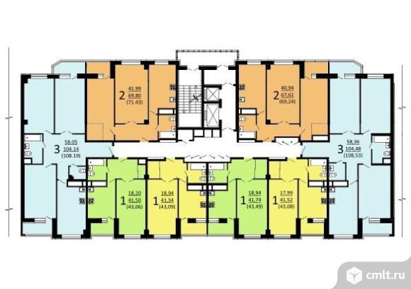 3-комнатная квартира 108,5 кв.м. Фото 1.