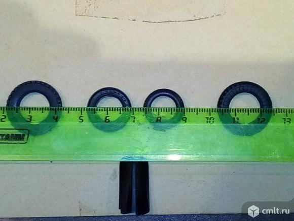 Колеса резиновые для моделей 1:43. Фото 5.