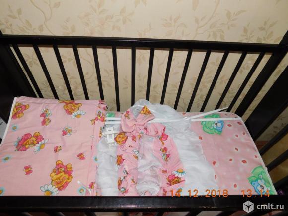 Кроватка цвет венге. Фото 6.