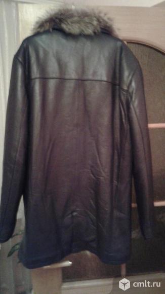 Куртка кожанная зимняя. Фото 1.