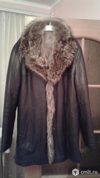Куртка кожанная зимняя. Фото 2.