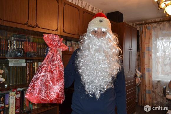 Борода и парик Деда Мороза (профессиональные). Фото 1.