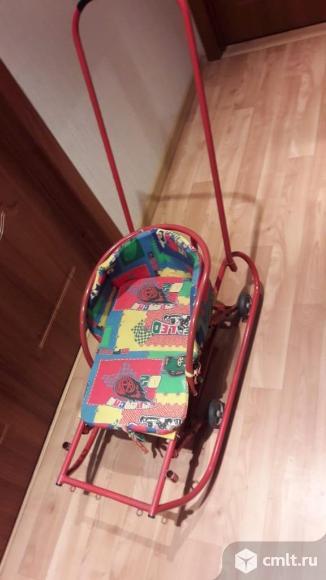 Продам детские санки с колесиками.. Фото 1.
