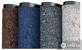 Коврик грязезащитный на основе каучука, 85х150см серый