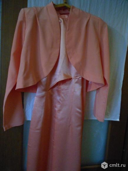 Платье длинное атласное