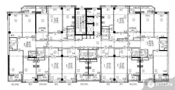 2-комнатная квартира 67,61 кв.м. Фото 2.