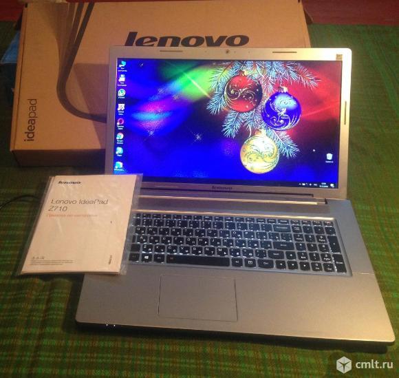 Lenovo(17,3, Core i5 -4200,твердотельный диск  SSD -360гб,видео 8400 коробка, документы. Фото 1.
