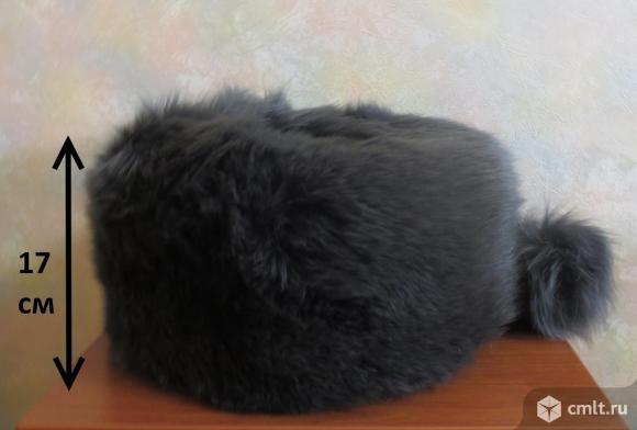 Продам шапку из песца. Размер 56-57 см. Цвет - серо-голубой. Два помпона.. Фото 1.