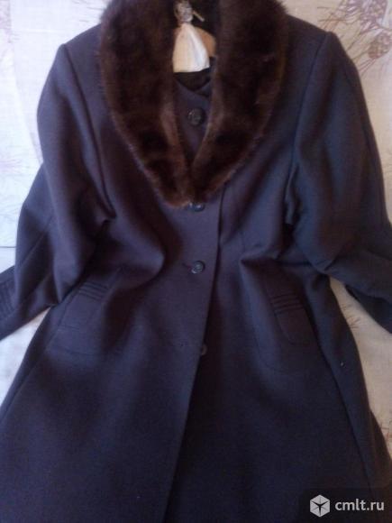 Пальто зимнее (шерсть, воротник норка)
