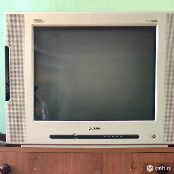Телевизор кинескопный цв. Rolsen. Фото 1.