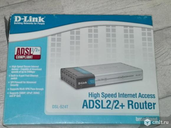 Маршрутизатор D-Link DSL-524T