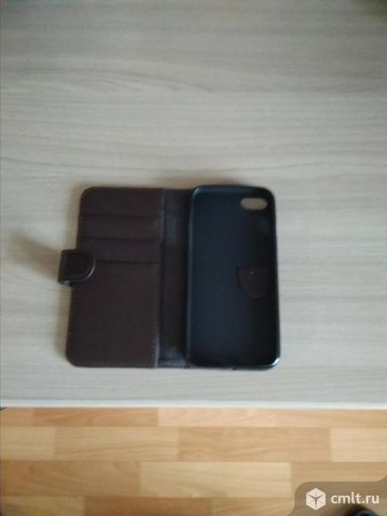 Чехол-книжка-бумажник коричневый на айфон 7