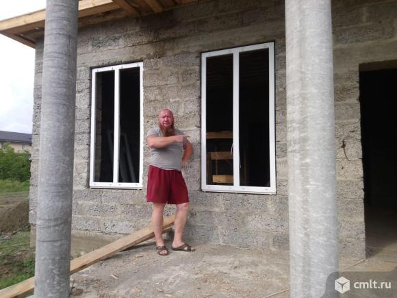 Строительство домов.каттеджей из арболит блока. Деревобетонных панелей. Фото 1.
