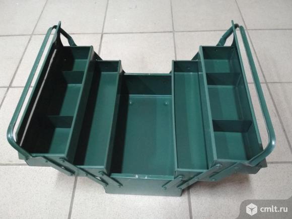 Ящик для инструмента металлический складной новый