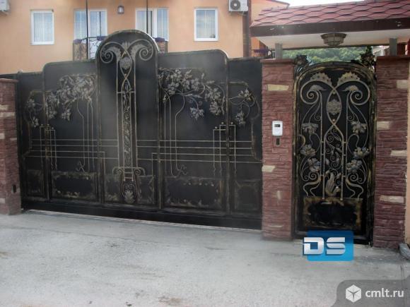 Металлические ворота. Фото 1.