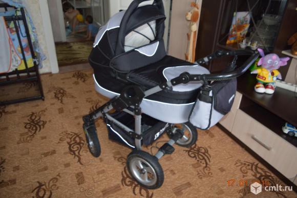 Коляска 3в1 RIKO ALPINA SPORT LINE при покупке в подарок атласный комплект в коляску