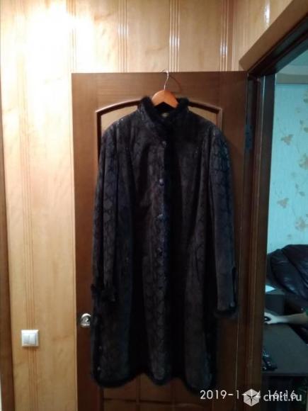 Пальто с норковой отделкой