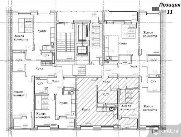 2-комнатная квартира 56,03 кв.м. Фото 11.