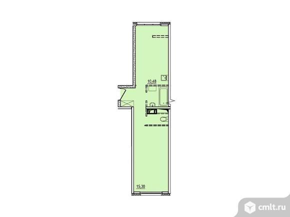 1-комнатная квартира 37,33 кв.м. Фото 1.