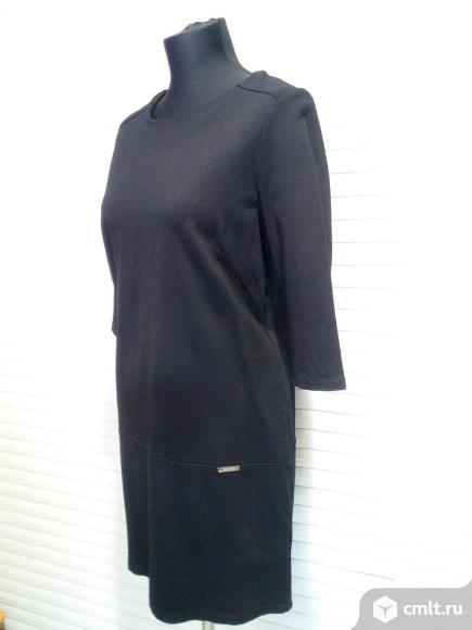 Платье черное р 46