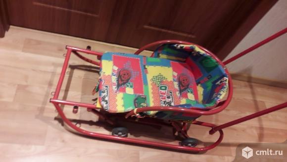 Продам детские санки с колесиками.. Фото 2.