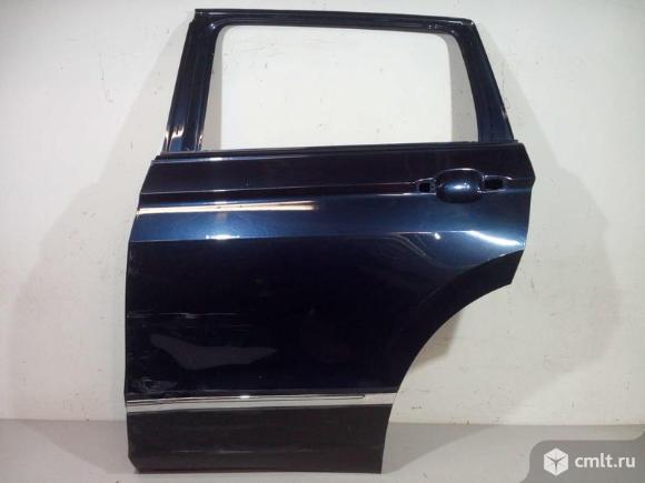 Дверь задняя левая + накладка молдинг VW TIGUAN 16- б/у 5NA833055J 5NA854949PRYP 3*. Фото 1.