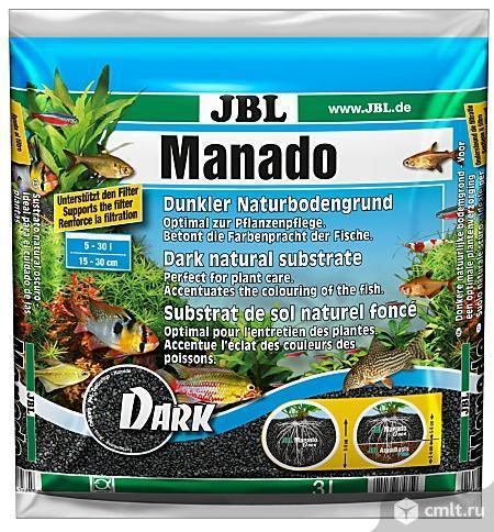 JBL Manado DARK, 3 л - Темный натуральный субстрат для аквариумов (JBL6703500). Фото 1.