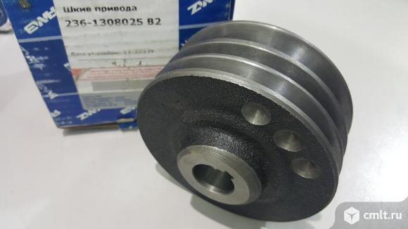 Шкив ремня приводного трехручейковый  MAZ маз 1308025в2 236. Фото 1.