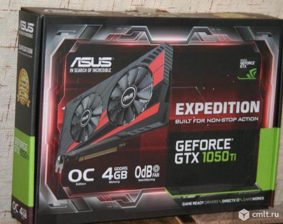 Видеокарта Asus GeForce GTX1050 Ti 4Gb, гарантия 2 года, документы, упаковка,  продаю.. Фото 1.