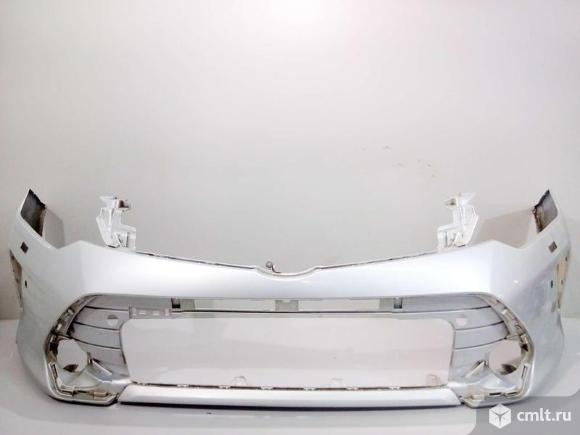 Бампер передний TOYOTA CAMRY V55 15- б/у 521190X911 521193T904 3*. Фото 1.