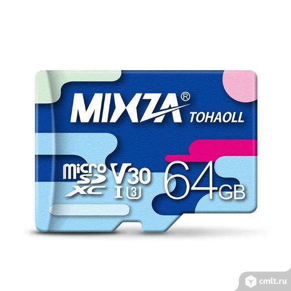 Карта microSD Mixza 80m/s 64gb. Фото 1.