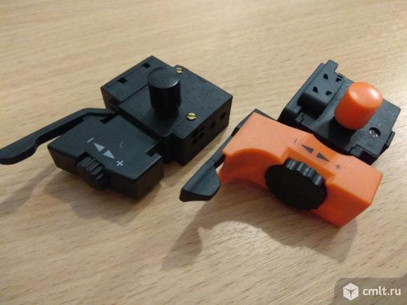 Кнопка выключатель для инструмента. Фото 1.