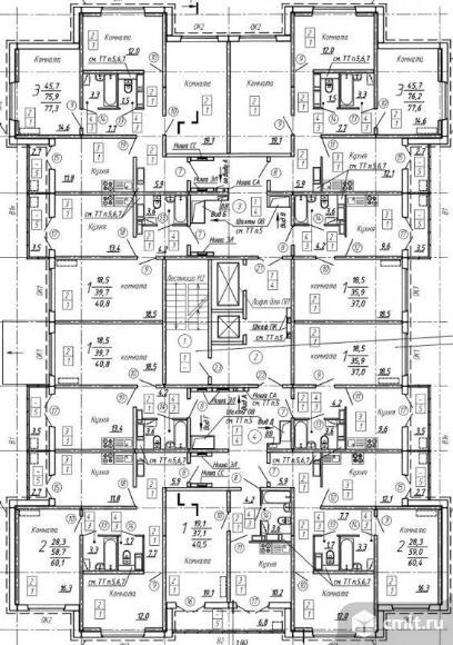 3-комнатная квартира 77,6 кв.м. Фото 3.
