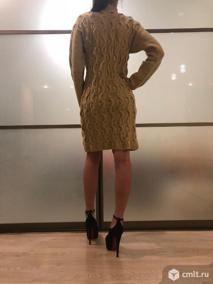 Вязанное платье , ручная вязка