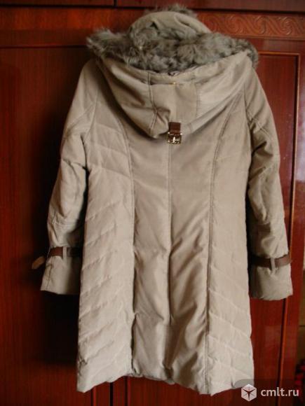 Пуховик зимний, с натуральным мехом, размер 44-46