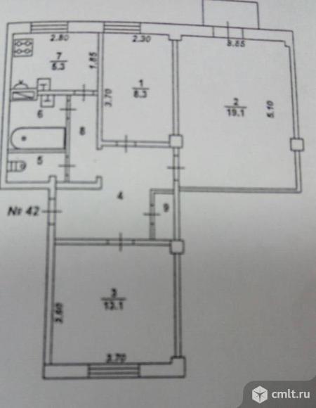 3-х ком. сталинка 64 кв.м. Фото 1.