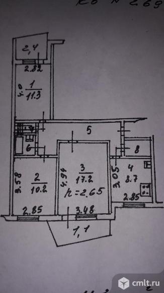 3-комнатная квартира 66,2 кв.м. Фото 6.
