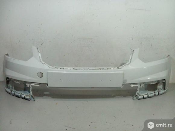 Бампер передний верхняя часть SKODA YETI 14- б/у 5L0807221F 3*. Фото 1.