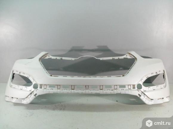 Бампер передний HYUNDAI SANTA FE 12- б/у 865112W000 3*. Фото 1.