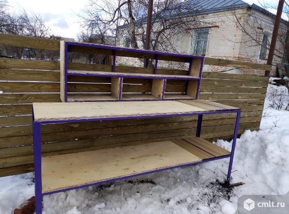 Стол-верстак для гаража и уличного использования. Фото 1.