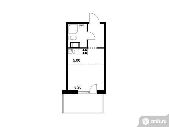 1-комнатная квартира 21,96 кв.м. Фото 1.