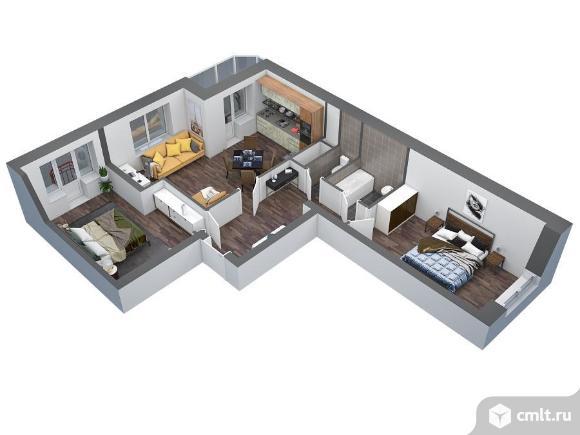 2-комнатная квартира 76,4 кв.м. Фото 1.