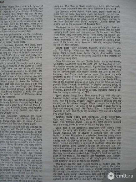 "Грампластинка (винил). Гигант [12"" LP]. Comparative Blues. Hall Of Fame - Jazz Greats. JG 603. США.. Фото 9."